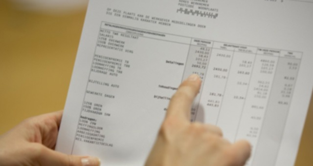Vermelding datum uit dienst op loonstrook